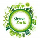 foto of environmentally friendly  - Green planet Earth concept - JPG