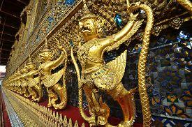 foto of garuda  - Garuda in Wat Phra Kaew Grand Palace of Thailand to find - JPG