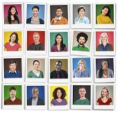 stock photo of human face  - People Diversity Faces Human Face Portrait Community Concept - JPG