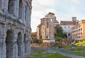 Постер, плакат: Theatre of Marcellus Rome Italy
