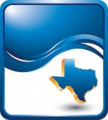texas state on blue wave background