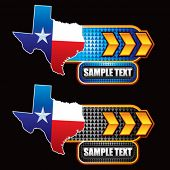 texas lonestar on gold arrow nameplates