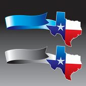 lonestar state on blue and gray ribbons
