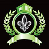 fleur de lis green royal display