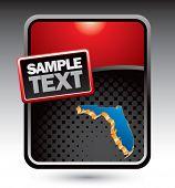 forma de estado de Florida no modelo estilizado vermelho