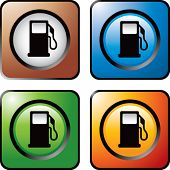 Gas Pump Symbol farbig Quadrat Web icons