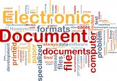 Background concept word cloud illustration of electronic documents