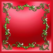 Decorative Stylish Elements Christmas Border