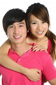 Jonge gelukkige paar verliefd
