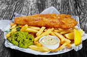 Delicious Crispy Fish And Chips, Close-up poster