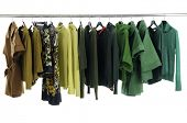 Colorful Clothing Rack Display