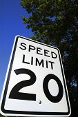 Speed Limit 20 Sign 2