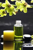 image of massage oil  - tranquil spa scene  - JPG