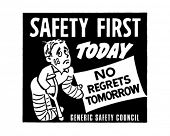 Safety First - Retro Ad Art Banner