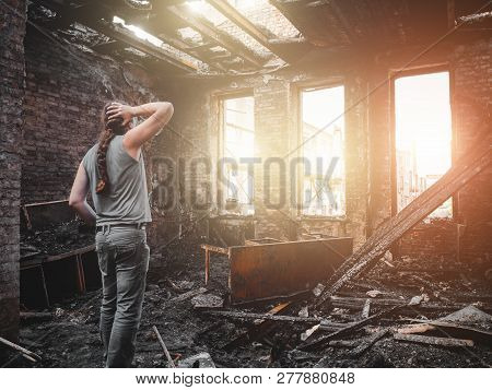 Man House Owner Stands Inside