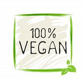 Natural Vegan Product 100 Bio Healthy Organic Label And High Quality Product Badges. Eco, 100 Bio An poster