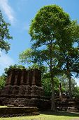 Wat Avasa Yai Historical Park In Kamphaeng Phet, Thailand (a Part Of The Unesco World Heritage Site poster