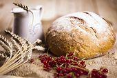 Composición de pan, desayuno