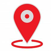 Location Map Icon On White Background. Flat Style. Location Map Icon For Your Web Site Design, Logo, poster