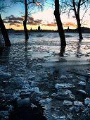 St.Petersburg Flood In Twilight