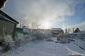 Frosty Day, Atmospheric Phenomenon Halo, Southern Urals Chelyabinsk poster