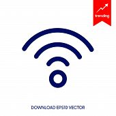 Wifi Signal Icon Isolated On White Background. Wifi Signal Icon In Trendy Design Style. Wifi Signal  poster