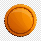 Tasty Round Biscuit Icon. Cartoon Of Tasty Round Biscuit Icon For Web Design poster