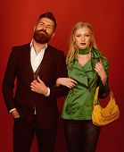They Got Great Style. Love Relations. Autumn Fashion Trends. Couple In Love In Fashionable Style. Fa poster