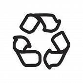 Recycle Vector Icon On White Background. Recycle Icon In Modern Design Style. Recycle Vector Icon Po poster