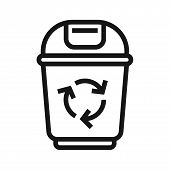 Recycle Bin Icon Isolated On White Background. Recycle Bin Icon In Trendy Design Style. Recycle Bin  poster