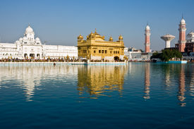 picture of sanscrit  - Golden Temple reflection at Amritsar Punjab India - JPG