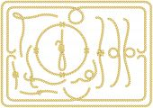 image of nautical equipment  - Collection of rope design elements with loop - JPG