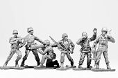 The Group Of Toy Soldiers
