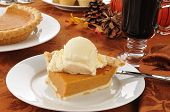 Pumpkin Pie And Mulled Wine