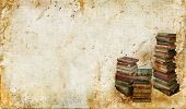 Vintage Books On A Grunge Background
