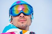Portrait of the ski goggles