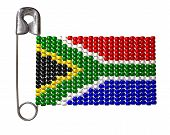 South African Zulu Bead Flag