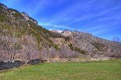 Landscape with snow mountains near Bardonecchia