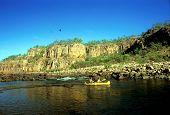 Katherine Gorge And Canoe