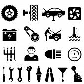 Car Maintenance And Repair Icons