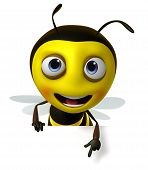 picture of bee cartoon  - 3 d cartoon cute honey bee toy - JPG