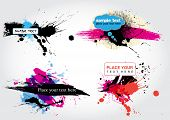 Vector Stain Banners 1