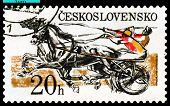 Vintage  Postage  Stamp. Sulky Race.