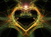 Abstract Multi-coloured Heart.