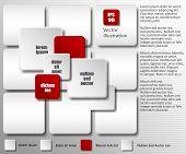 Abstrakt 3D Infographik Elemente - Vektor-illustration