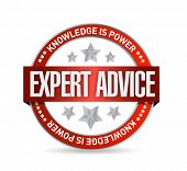 stock photo of helpdesk  - expert advice seal illustration design over a white background - JPG