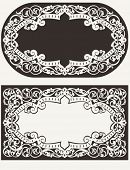 Two Vintage Ornate Frames Background