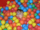 Girl In A Ball Pit