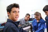 Portrait of student in auto mechanics