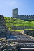 Stairway below Despot tower at Kalemegdan fotress, Belgrade